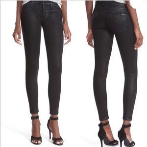 Hudson Krista Super Skinny Black Wax Jeans - SZ 25